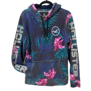 Hollister Floral Hoodie Pullover Size Medium